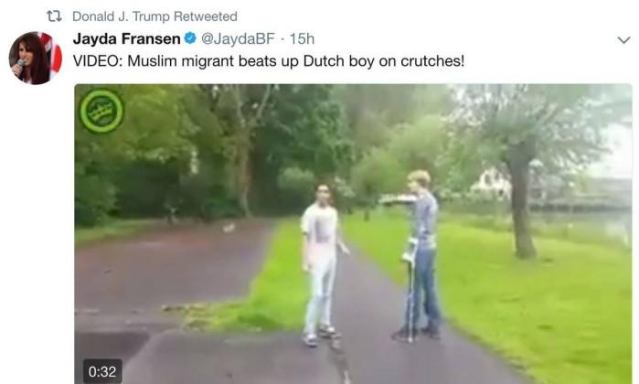 Premiê do Reino Unido volta a criticar mensagens de Trump contra muçulmanos