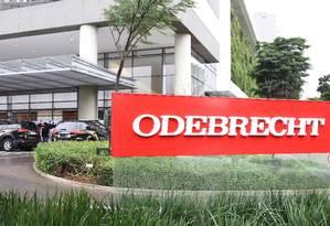Sede da Odebrecht em São Paulo Foto: Michel Filho/Agência O Globo/16-06-2015