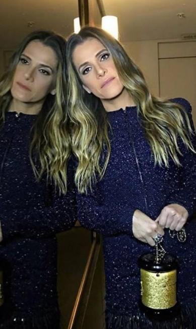 A também apresentadora da noite, a atriz Ingrid Guimarães: look da Chanel Reprodução Instagram