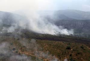 Incêndio na Chapada dos Veadeiros, em Goiás Foto: Jorge William / Jorge William/Agência O Globo/28-10-2017