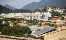 Microgeração de energia com placas fotovoltaicas em Niterói: exemplo de política sustentável Foto: Hermes de Paula / Hermes de Paula/11-04-2016
