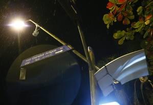 No Leblon, iluminação era criticada na Rua Visconde de Pirajá Foto: Roberto Moreyra / Agência O Globo