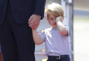 Príncipe George, de 4 anos, é o terceiro na linha de sucessão ao trono Foto: Kay Nietfeld/ AP