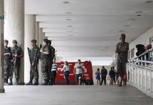 Entrada do Hospital Souza Aguiar, no Centro do Rio Foto: Antonio Scorza / Agência O Globo
