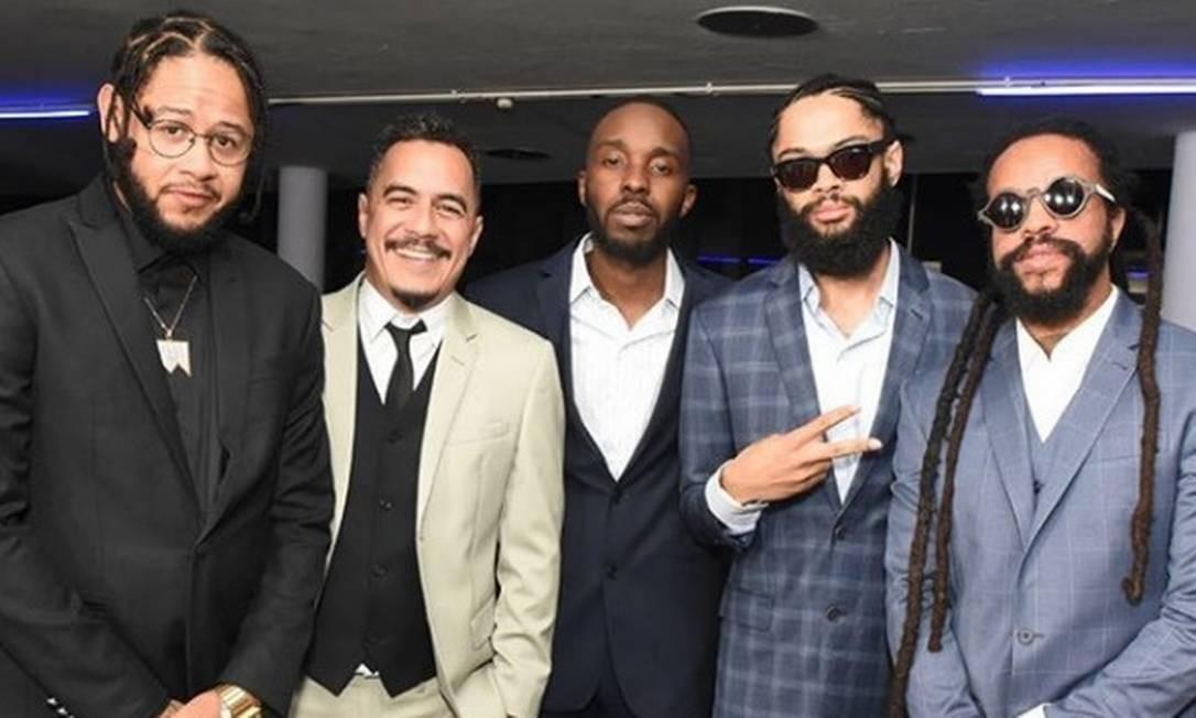"""Emicida, Marcelo D2, DJ Nyack, Fiot e Rael foram os representantes do rap nacional, ritmo escolhido na categoria """"música"""" Reprodução Instagram"""