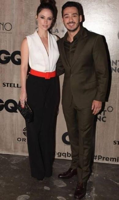 A atriz Rosanne Mulholland acompanhou o namorado, Marcos Veras, apresentador da premiação este ano Reprodução Instagram
