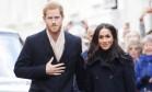 Príncipe Harry e Meghan Markle na primeira aparição pública do casal após noivado Foto: Jeremy Selwyn / AP