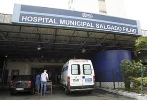 O Hospital Municipal Salgado no Filho, tem sido fortemente afetado pela crise da saúde no município do RIo Foto: Gabriel de Paiva / Agência O Globo