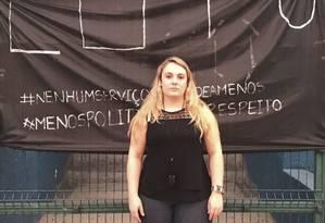 Engajamento. Danielle cobra medicamentos para a rede de atendimento básico Foto: Flávia Junqueira / Agência O Globo