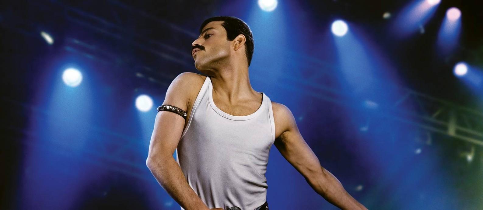O ator Rami Malek como Freddie Mercury no filme 'Bohemian Rhapsody' Foto: Nick Delaney/Divulgação