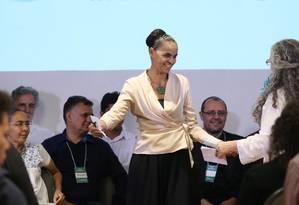 Marina Silva é lançada pré-candidata à Presidência pela Rede Foto: Ailton Freitas / Agência O Globo