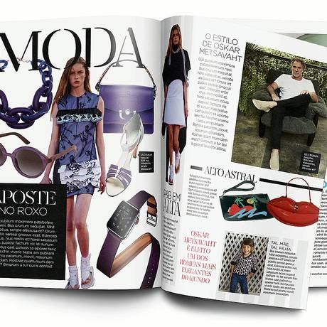 Design arrojado: nas fotos, exemplos de páginas da nova revista ELA Foto: Divulgação