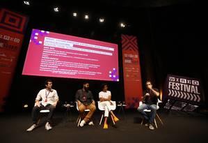 Criadores de conteúdo debatem o impacto do digital na produção cultural Foto: Pablo Jacob / Agência O Globo