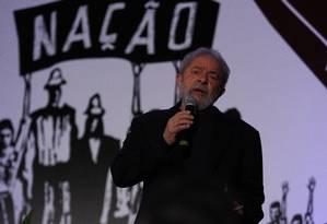 Lula durante o Congresso do PCdoB, em novembro Foto: Jorge William / Agência O Globo