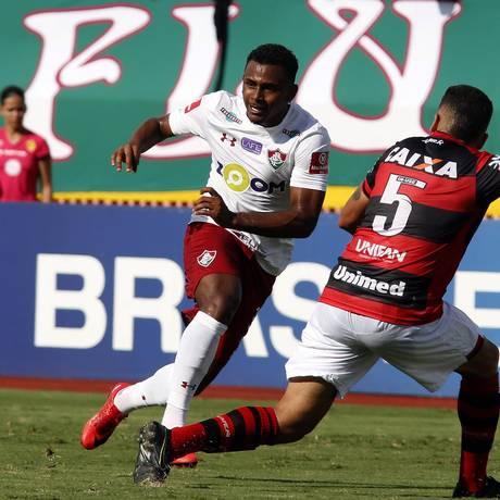Wendel, autor do gol do Fluminense, tenta uma jogada no Estádio Olímpico Foto: Nelson Perez/Fluminense F.C.