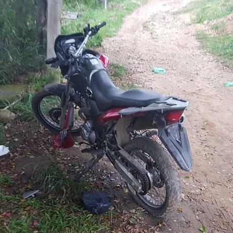 A moto apreendida pelos policiais Foto: Reprodução