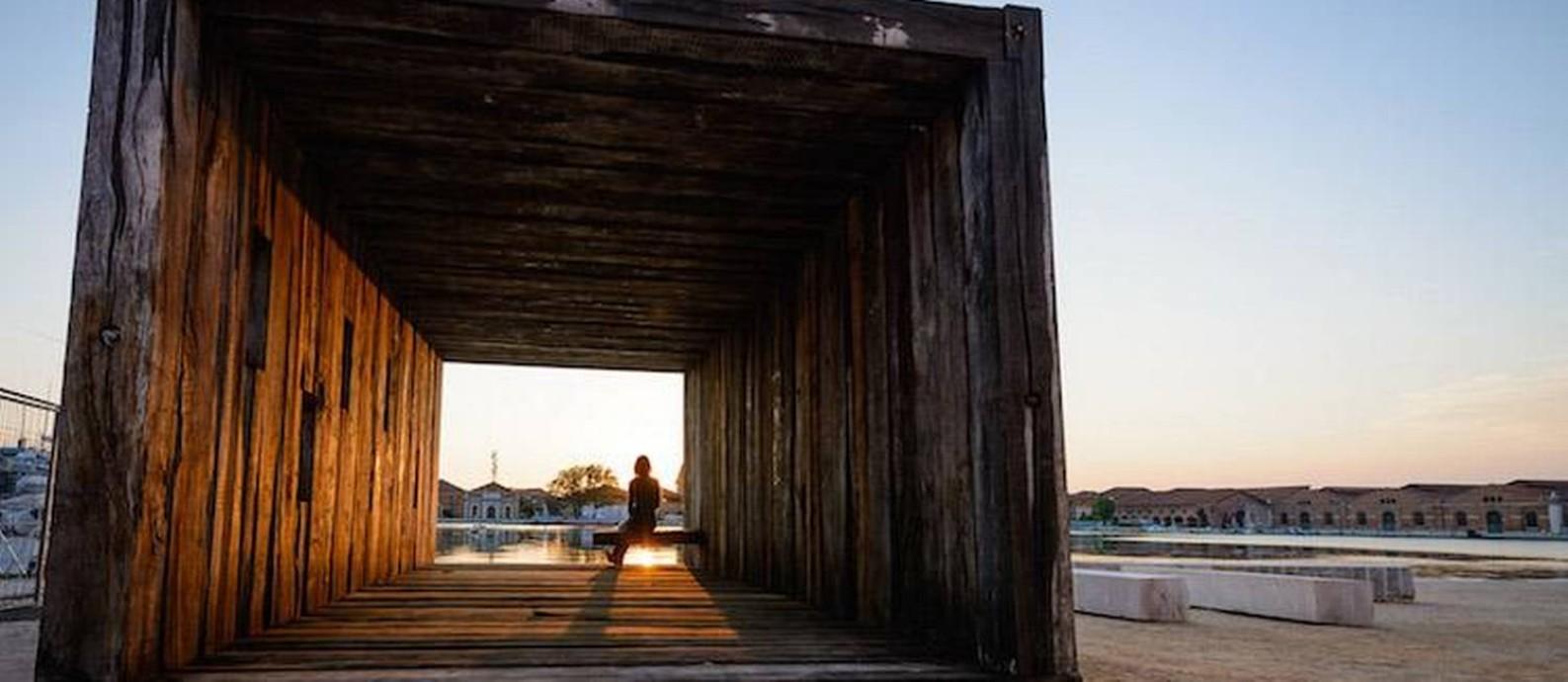 Obra exposta na Bienal de Arquitetura de Veneza de 2016 Foto: Divulgação