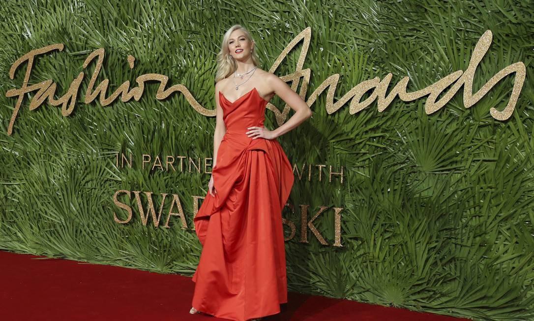 A modelo Karlie Kloss investiu num Vivienne Westwood Joel C Ryan / Joel C Ryan/AP