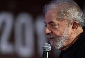 O ex-presidente Luiz Inácio Lula da Silva Foto: Jorge William / Agência O Globo 19-11-2017