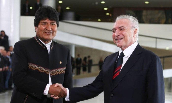 Temer e Morales deixam diferenças de lado em prol de acordos bilaterais