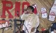 Show. O cantor Toni Garrido é uma das atrações do evento