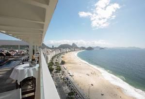 Camarote. Vista do hotel Othon Palace, que irá oferecer três festas em andares diferentes no Réveillon Foto: Brenno Carvalho/Agência O Globo