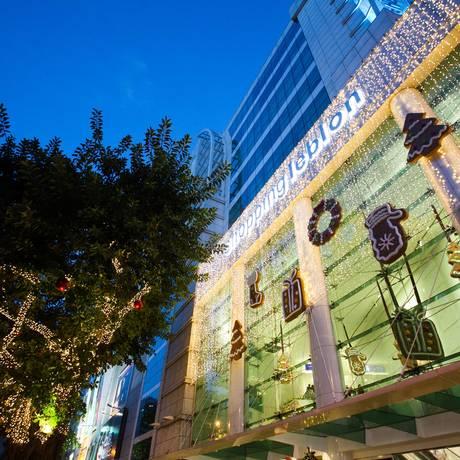 O clima de Natal invadiu os corredores do Shopping Leblon, que teve a decoração criada pelo prestigiado Grupo MChecom Foto: Divulgação
