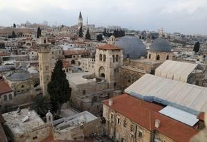 Vista geral de parte da Cidade Velha de Jerusalém Foto: AMMAR AWAD / REUTERS