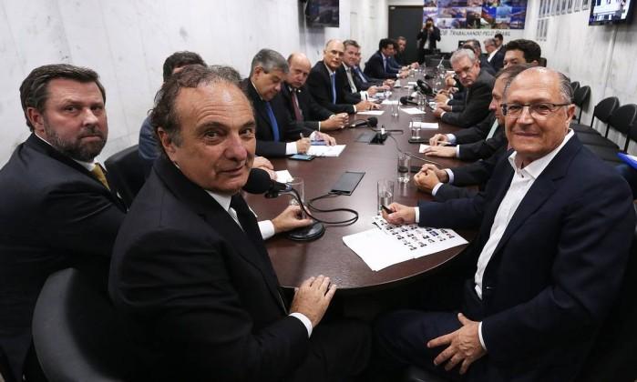 Resultado de imagem para psdb alckmin reunião deputados em brasília