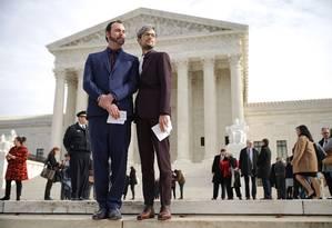 Dave Mullins e Charlie Craig levaram o caso à justiça Foto: CHIP SOMODEVILLA / AFP