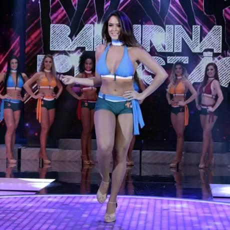 A dançarina Ana Carolina Vieira, morta pelo ex-namorado, participou do concurso Bailarina do Faustão Foto: Reprodução