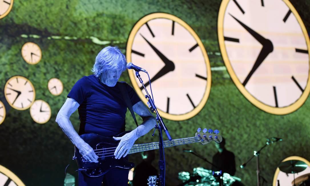 "Roger Waters durante a turnê ""Us + Them"", em Los Angeles Foto: Chris Pizzello / AP"