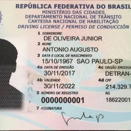 Nova carteira de habilitação será um cartão com chip Foto: Divulgação