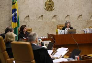 Plenário do Supremo Tribunal Federal (STF) analisa caso da Alerj, que votou decisão de prisão contra três deputados Foto: Ailton de Freitas / Agência O Globo