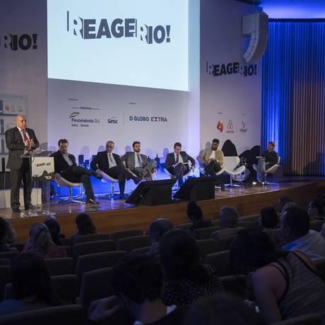 Seminário 'Reage Rio!' no Museu do Amanhã Foto: Julio Cesar Guimaraes / Agência O Globo
