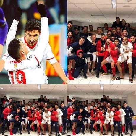Ganso comemora o primeiro gol pelo Sevilla Foto: Reprodução