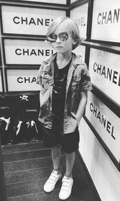"""Modelo infantil profissional, Hudson foi apelidado de """"mini-muso"""" da Chanel... Reprodução Instagram / @hk0712"""