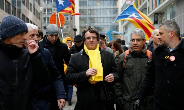 Catalunha: Independentistas fazem manifestação em Bruxelas contra a UE