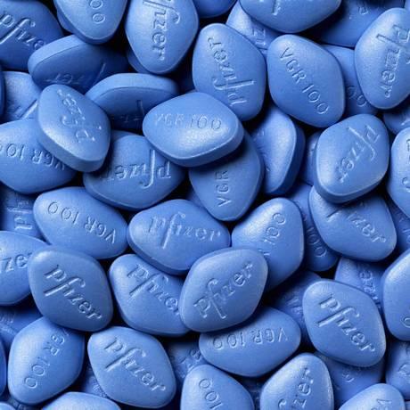 Viagra, fabricado pela Pfizer Foto: .