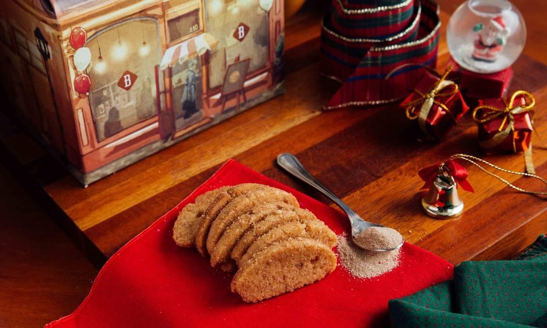 Na Biscoiteca tem novidades natalinas, uma delas é o biscoito de rabanada (R$ 5,50, 50g), com baunilha, açúcar e canela. Rua Leopoldo Miguez 110, Copacabana (3258-6058). Foto: Divulgação/Samuel Antonini