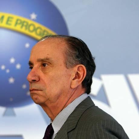 O ministro das Relações Exteriores, Aloysio Nunes Ferreira, durante pronunciamento Foto: Givaldo Barbosa/Agência O Globo/10-11-2017