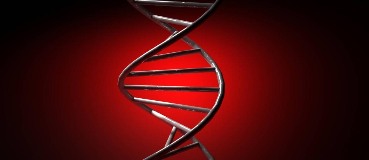 Ilustração da molécula do DNA: técnica não 'quebra' a estrutura em dupla hélice, o que pode levar ao surgimento de mutações indesejadas Foto: StockPhoto