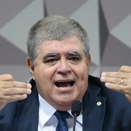 O deputado Carlos Marun (PMDB-RS) durante sessão da CPI da JBS Foto: Jorge William / Jorge William/Agência O Globo/08-11-2017