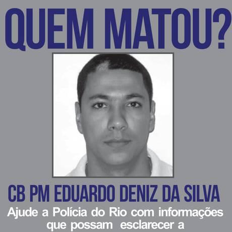 Eduardo Deniz da Silva, de 40 anos, foi morto na noite desta quinta-feira Foto: Reprodução