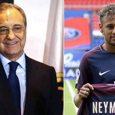 Florentino Pérez e Neymar Foto: Reprodução