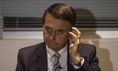 Deputado federal Jair Bolsonaro sobre sua filiação ao partido Patriota Foto: Alexandre Cassiano / Agência O Globo