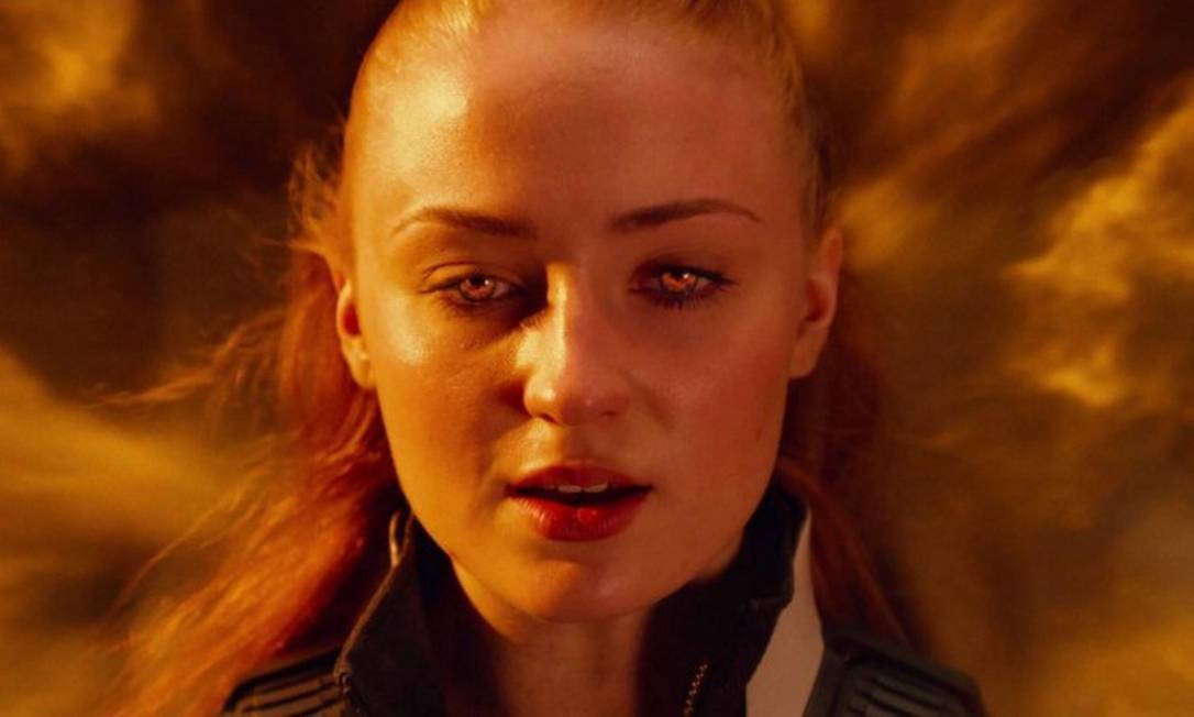 """'X-Men: Fênix Negra': Nova leitura de uma das histórias mais populares do grupo de mutantes, a aventura chega aos cinemas em 6 de junho com Sophie Turner (a Sansa de """"Game of thrones) no papel de Jean Grey/Fênix Negra. Foto: Divulgação"""