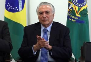 Presidente Michel Temer diz que aposentadorias poderão ser cortadas em 2019 se não houver reforma da Previdência Foto: Givaldo Barbosa / Agência O Globo (06/12/2017)
