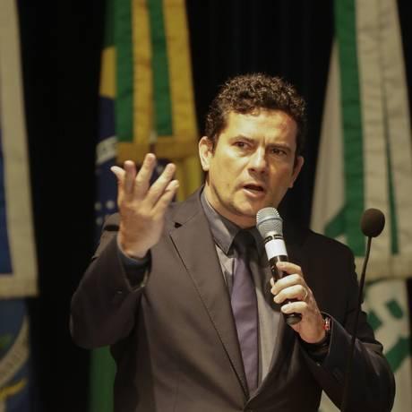 Sergio Moro em evento de compliance da Petrobras Foto: Gabriel de Paiva / Agência O Globo