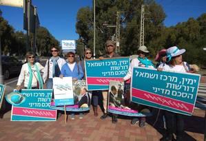 Grupo de mulheres judias e árabes-israelenses lidera Women Wage Peace, movimento a favor da paz Foto: Reprodução Twitter
